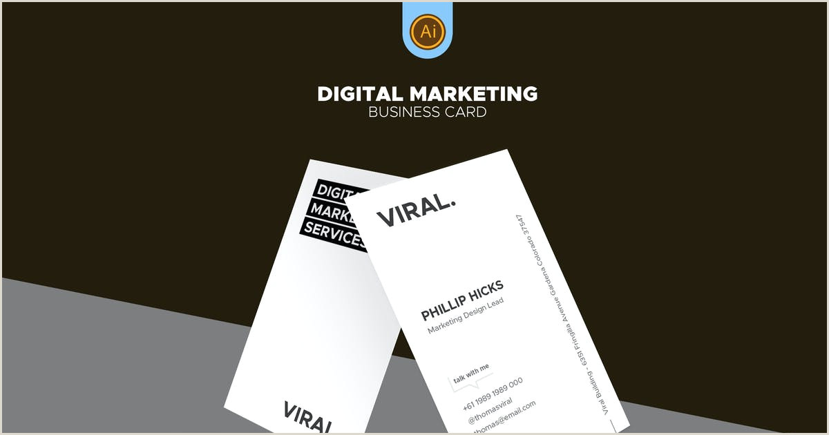 Unique Marketing Business Cards Digital Marketing Business Card 07 By Afahmy On Envato Elements