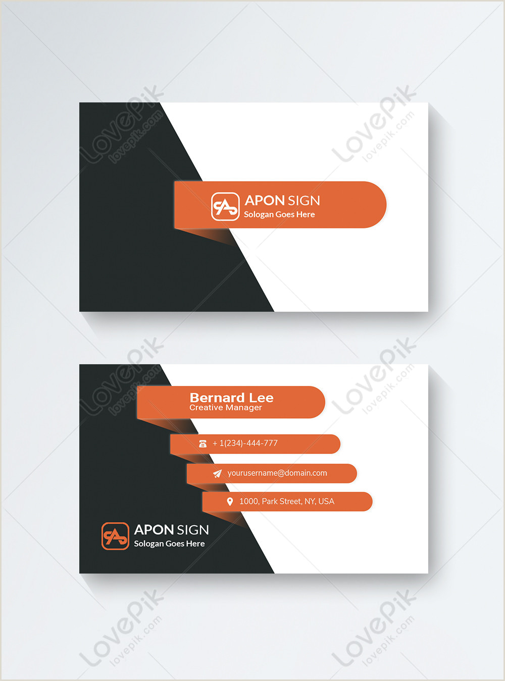 Unique Marketing Business Cards Unique Business Card Template Image Picture Free