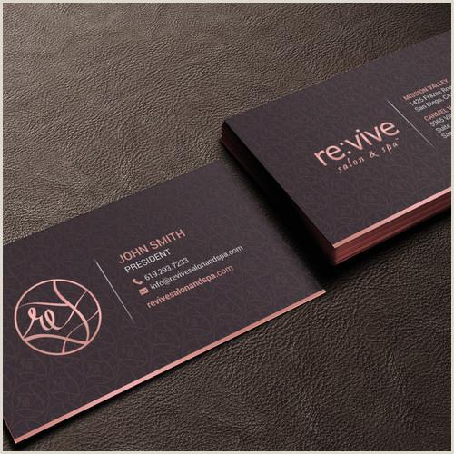 Unique Medi Spa Business Cards Business Card For Luxury Salon & Spa Revive Salon & Spa Is A