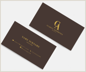 Unique Medi Spa Business Cards Med Spa Business Card Design With Logo