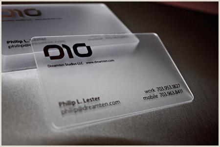 Unique Opaque Business Cards 30 Unique Examples Of Transparent Business Cards