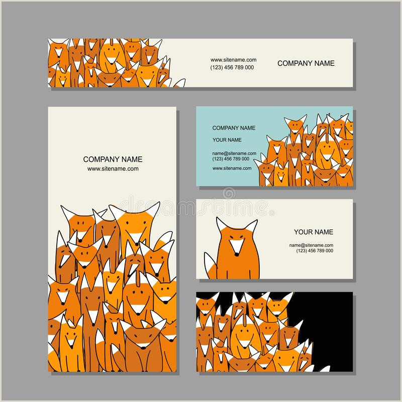 Unique Relief Business Cards Fox Business Cards Design Funny Fox Family Editorial