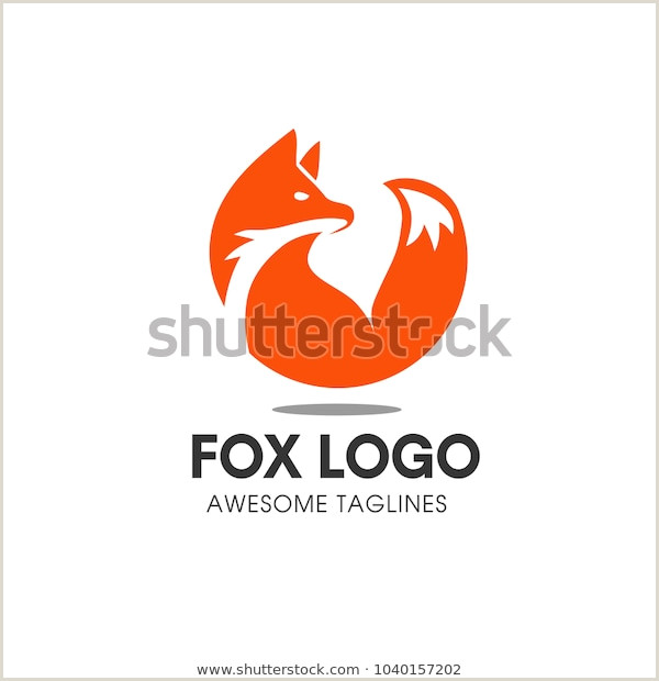 Unique Relief Business Cards Fox Creative Circle Fox Logo Vector Round Stock Vector Royalty