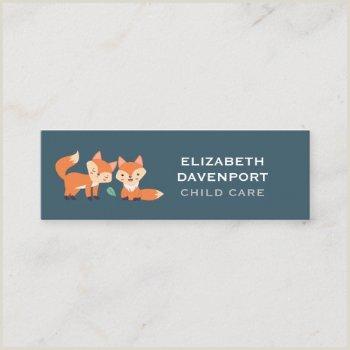 Unique Relief Business Cards Fox Cute Fox Business Cards