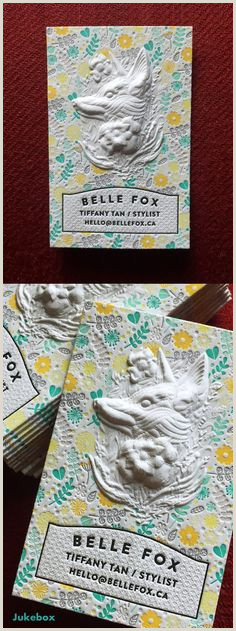Unique Relief Business Cards Fox Jukebox Print Jukeboxprint On Pinterest