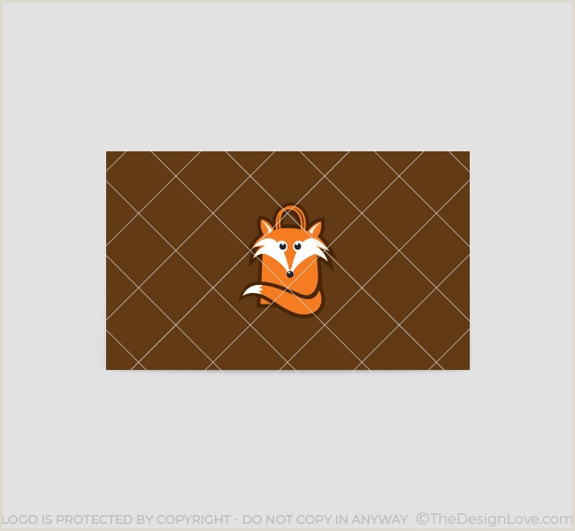 Unique Relief Business Cards Fox Shopping Fox Logo & Business Card Template
