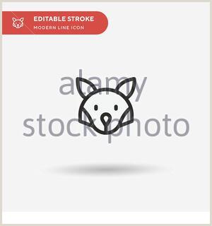 Unique Relief Business Cards Fox Simple Cute Fox Logo Template Vector Illustration Free