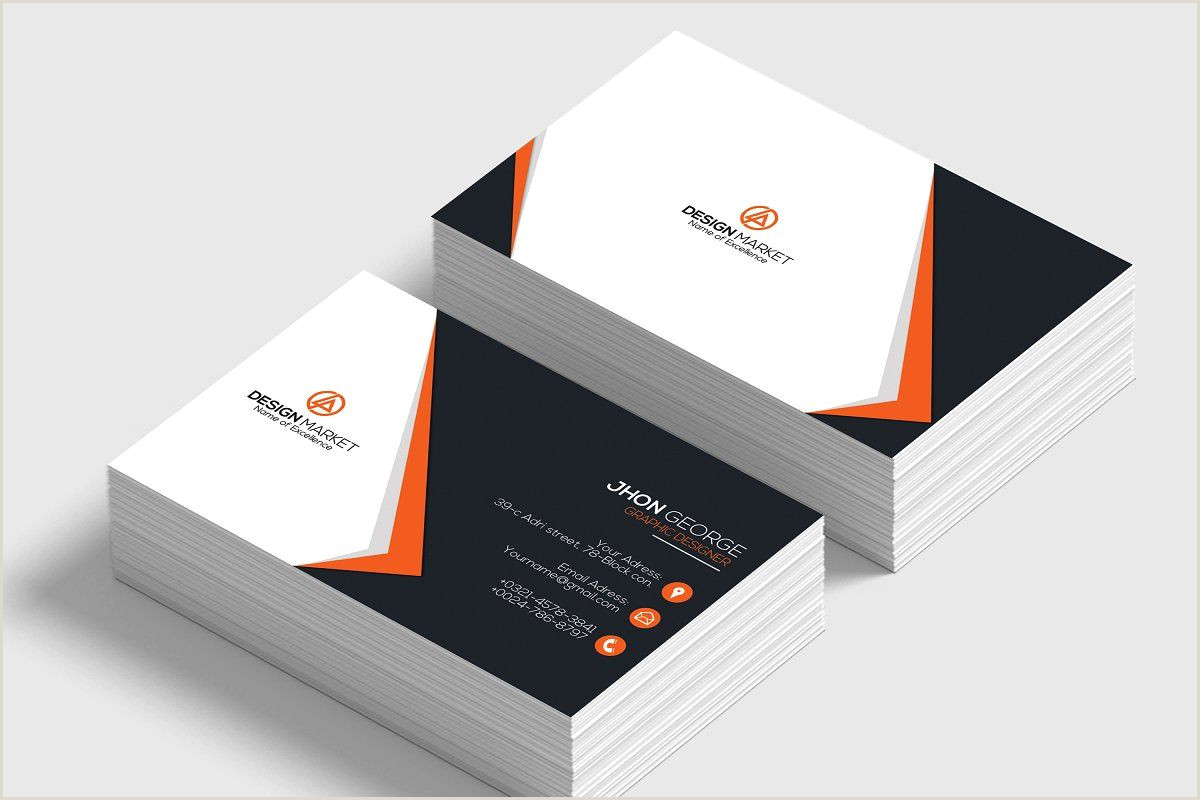 Unique Shape Business Cards Business Card Template In 2020