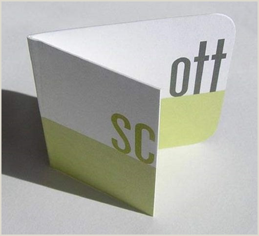 Unique Shaped Business Cards With Fold 25 Unique Folded Business Cards