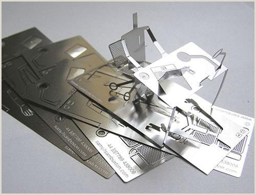Unique Shaped Business Cards With Fold Cool 3d Metal Fold Out Business Card Design