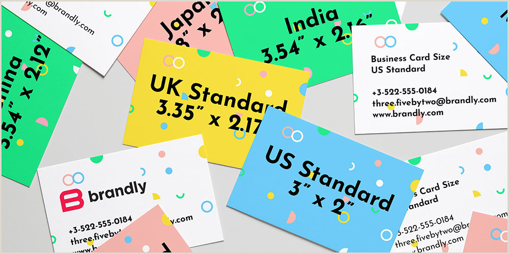 Unique Size Business Cards Standard Business Card Sizes Free Templates