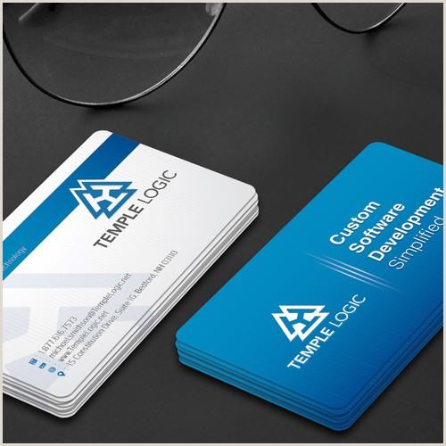 Unique Software Company Business Cards Business Card For Software Pany