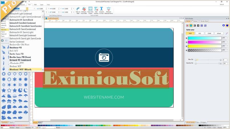 Unique Software Company Business Cards Business Card Software Business Card Maker Make Free