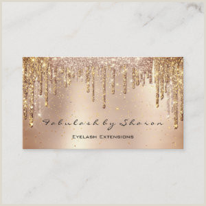 Unique Sparkle Business Cards Glamourous Glitz And Glitter Business Cards Girly Business