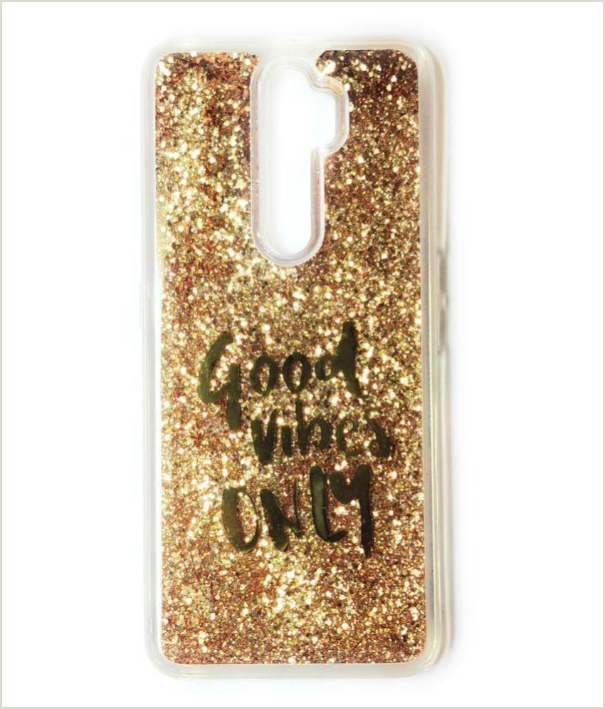 Unique Sparkle Business Cards Oppo A5 2020 Glitter Shining Stars Golden Liquid Glitter
