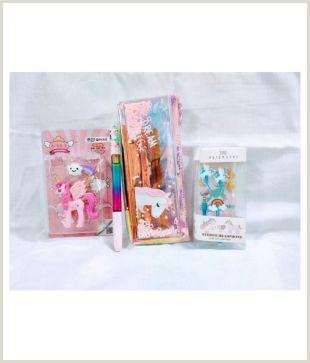 Unique Sparkle Business Cards Unicorn Holographic Pouch Unicorn Glitter Pen Unicorn