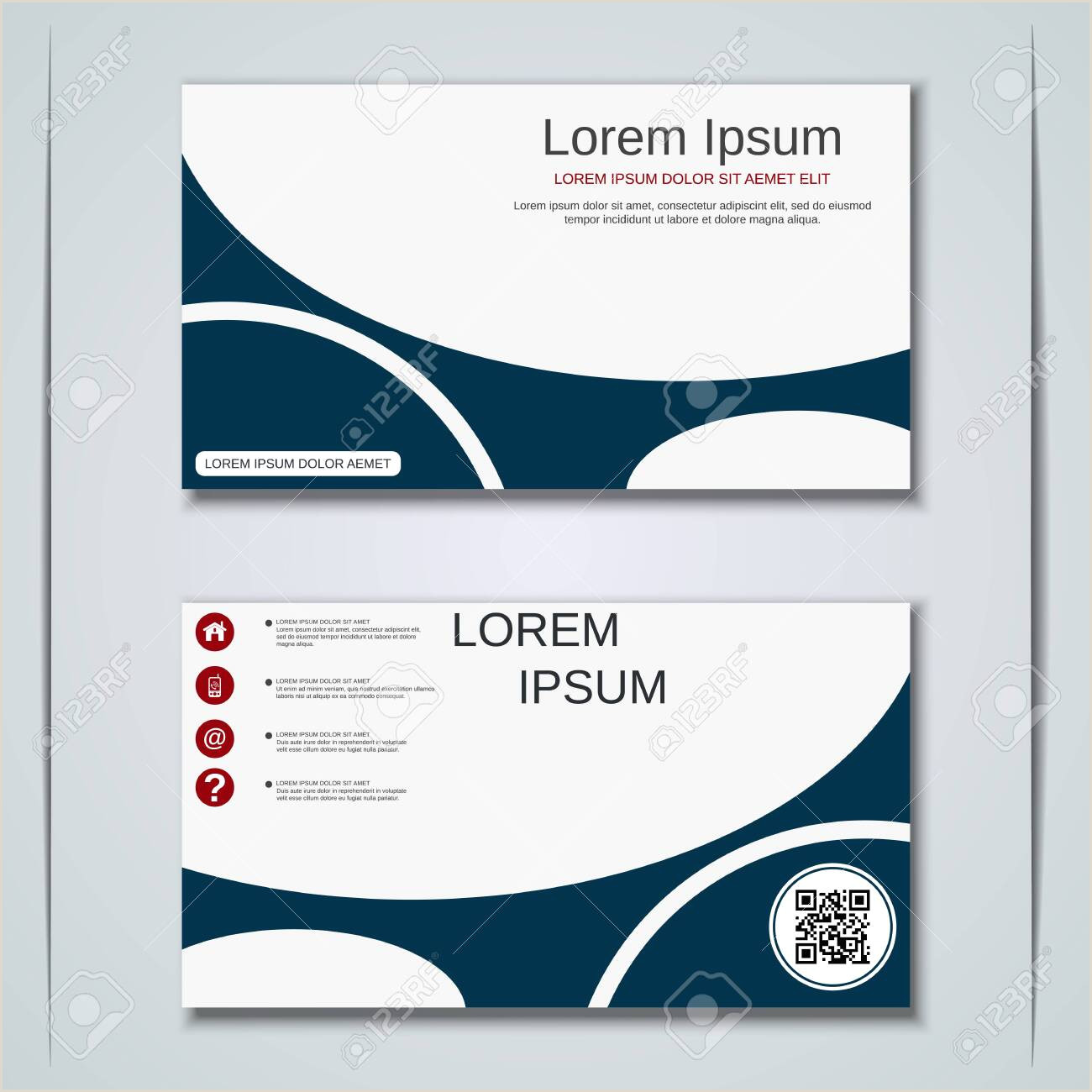 Unique Sticker Business Cards Modern Abstract Geometric Style Business Visiting Card Label