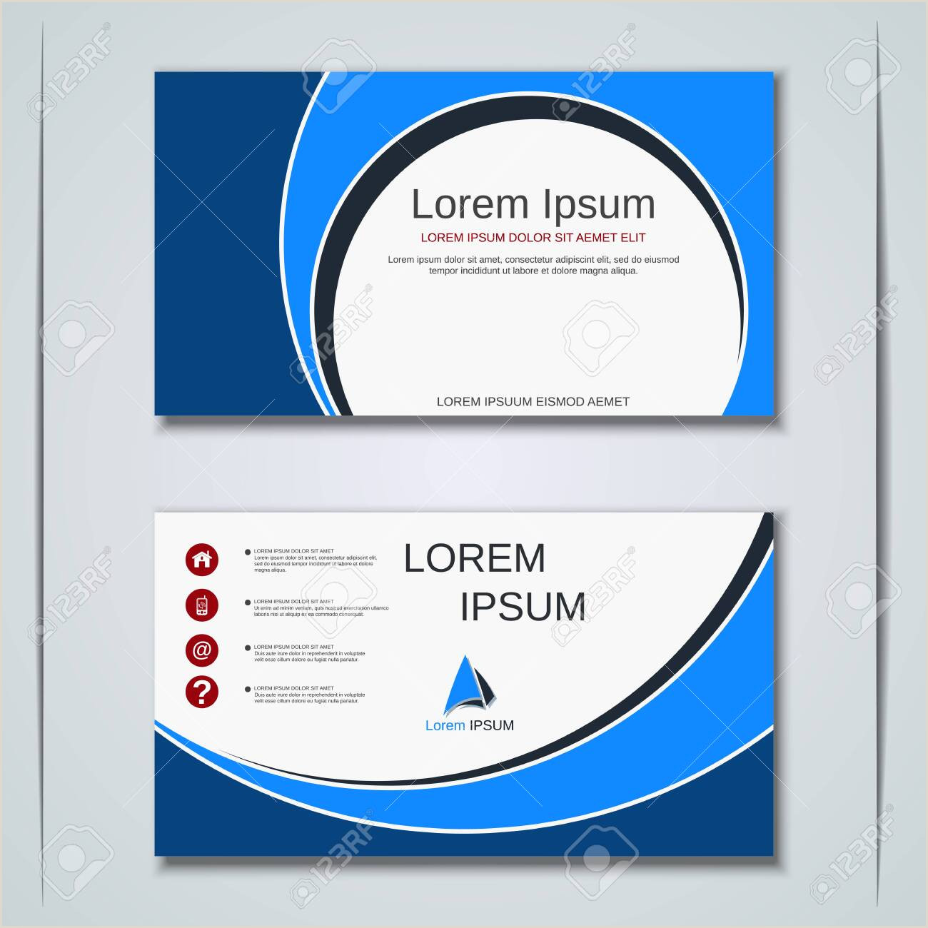 Unique Sticker Business Cards Modern Geometric Style Business Visiting Card Label Sticker