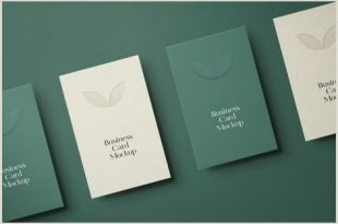 Unique Vertical Business Cards 21 New Best Stationery Mockups Graphics Design