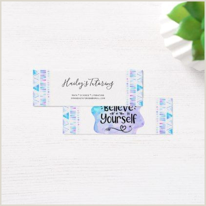 Unique Ways To Display Business Cards Believe In Yourself Mini Business Card Watercolor Ts