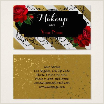 Unique Ways To Display Business Cards Makeup Artist Business Card Makeup Artist Ts Style