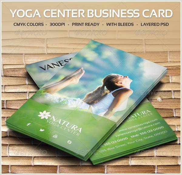 Unique Yoga Business Cards 12 Yoga Business Card Templates Psd Word Publisher