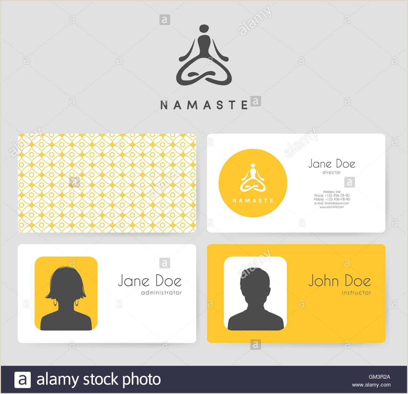 Unique Yoga Business Cards Yoga Business Cards High Resolution Stock Graphy And