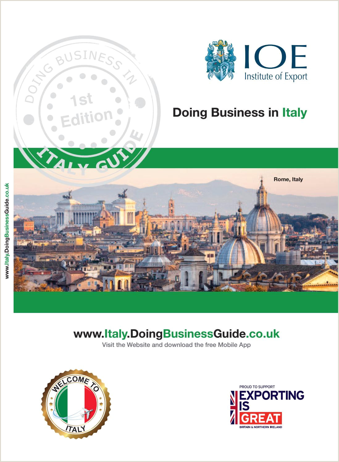 Usiness Cards Doing Business In Italy Guide By Doing Business Guides Issuu