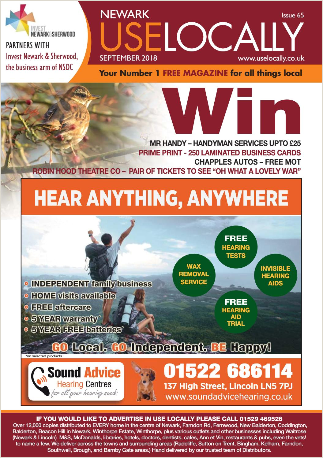Usiness Cards Newarks September 2018 Issue Is Out Now By Karol Watson