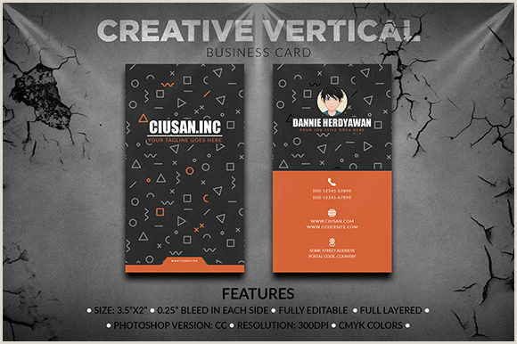 Vertical Business Card Examples Creative Vertical – Business Card Graphic By Ciusan