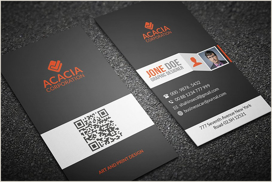 Vertical Business Card Examples Simple Vertical Business Card
