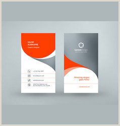 Vertical Business Card Examples Vertical Business Card Vector Over 10 000