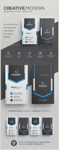 Vertical Business Card Layout 100 Business Cards Ideas