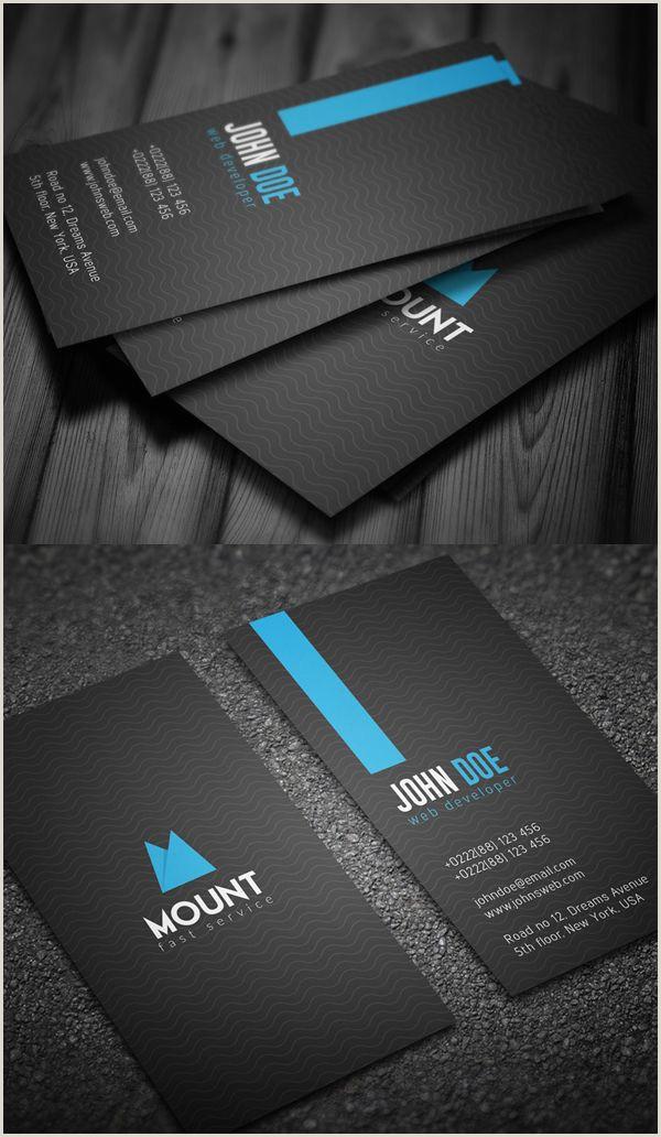 Vertical Business Card Layout 22 New Modern Business Cards Psd Templates