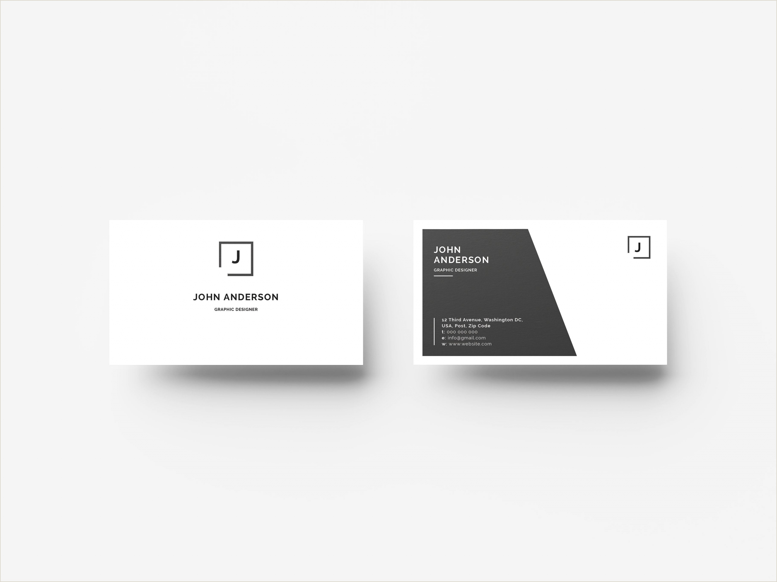 Vertical Business Card Layout Creative Business Card A Modern Minimal Business Card This
