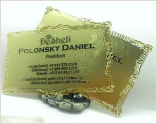 Visitcard Design 2020 Hollow Out Lace Golden Business Card Metal Visit Card From Hellen8599 $150 76
