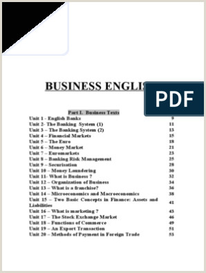 Visitcard Design Business English Financial Markets