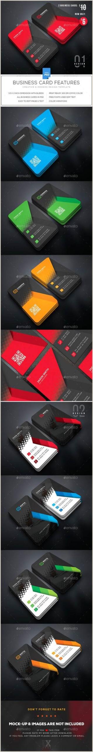 Visitcard Design Creative Modern Polygon Business Card