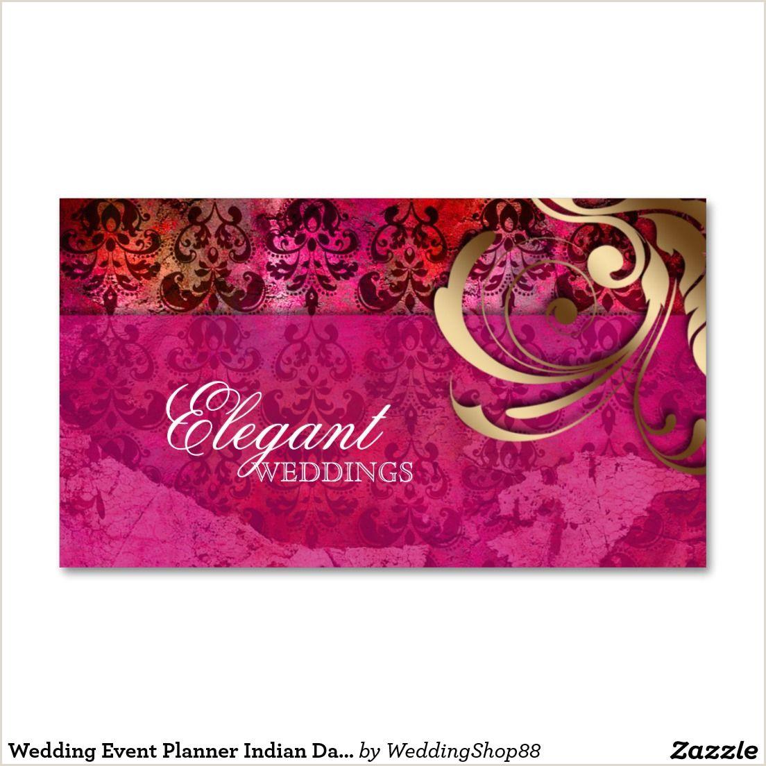 Visitcard Design Indian Wedding Planner Visiting Card Design