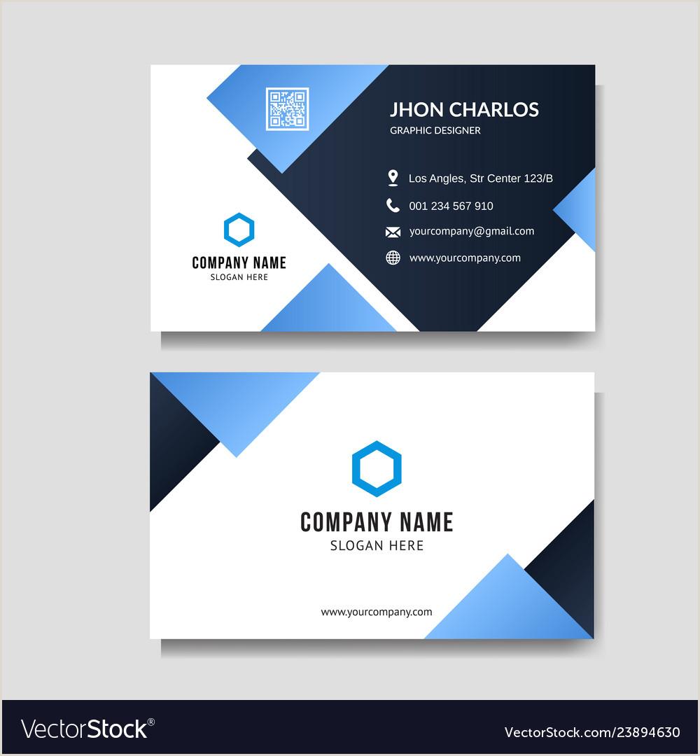 Visitcard Design Vector Blue Business Card Background Free Premium Vector