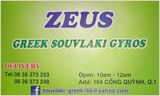 Visitcard Design Zeus Visit Card Picture Of Zeus Greek Souvlaki Gyros