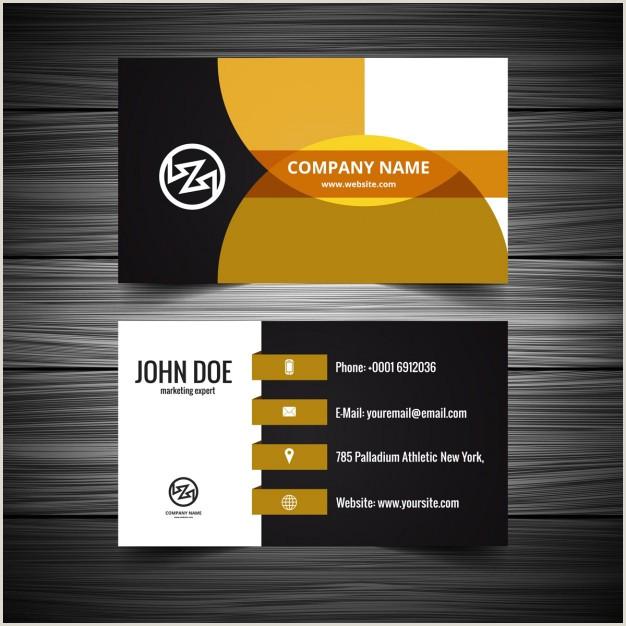 Visiting Card Design Download Vector Modern Visiting Card With Orange Details