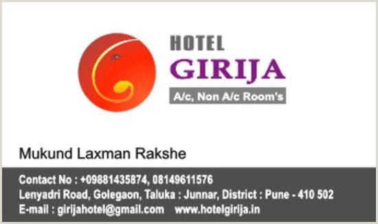 Visiting Card Designs Visiting Card Picture Of Hotel Girija Junnar Tripadvisor