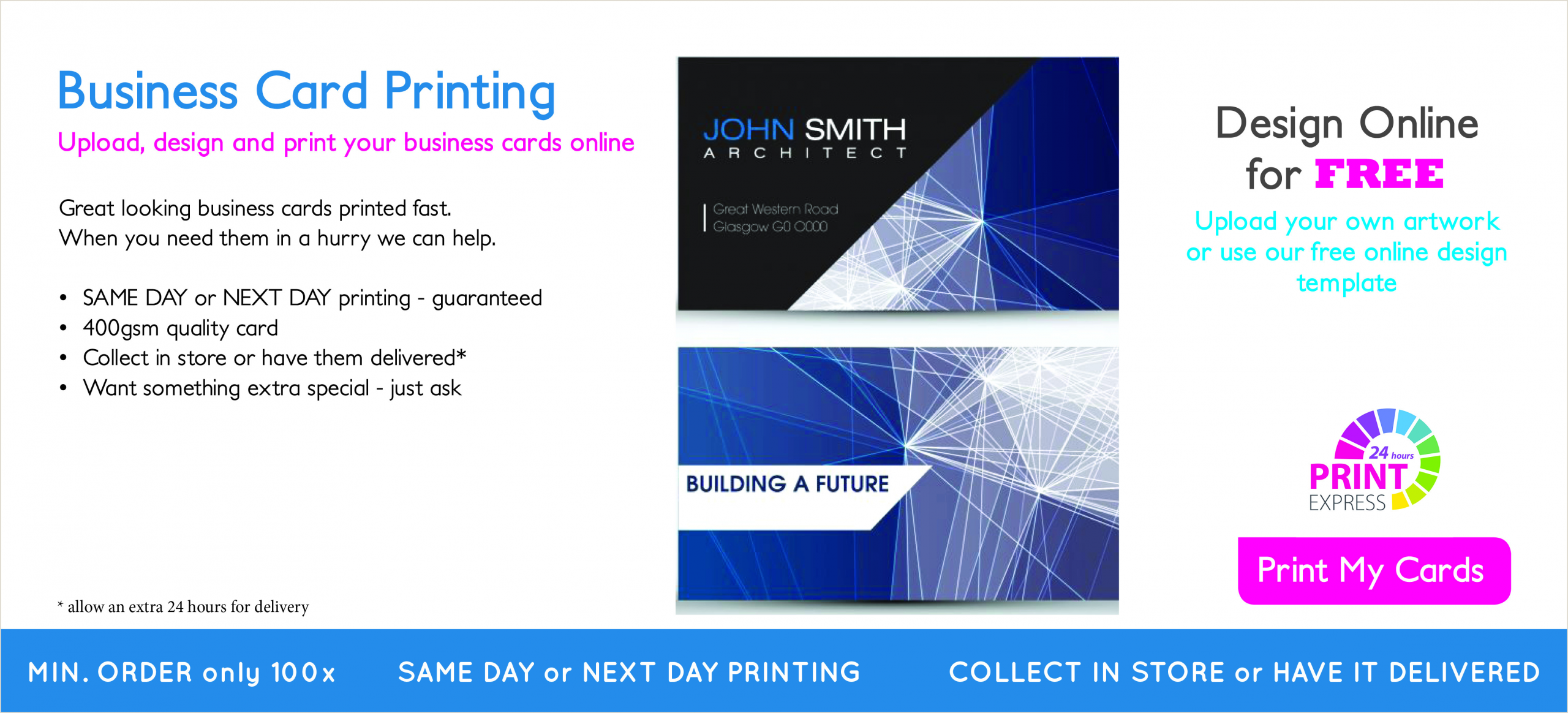 Visiting Card Printing Near Me Self Service Copy & Print Shop Glasgow Same Day Printing