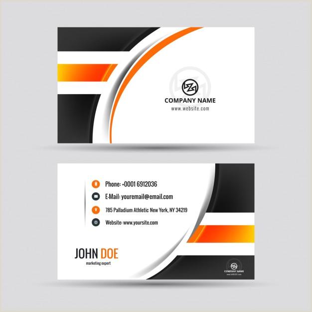 Visiting Card Samples Download Vector Modern Visiting Card With Orange Details