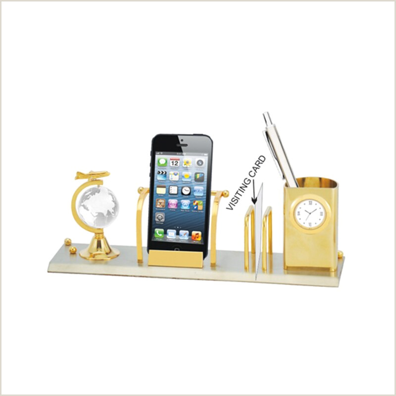 Visiting Card Tumbler With Clock Card Holder & Mobile Stand Fice