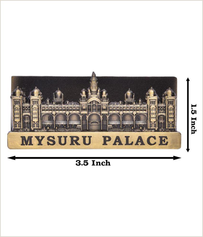Visitng Card Brecken Paul Brass Mysore Palace Visitng Card Holder Stand Pack Of One