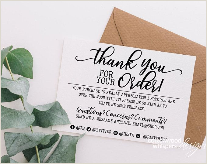 We Appreciate Your Business Cards Instant Handmade Item Thank You Cards Editable Pdf Printable