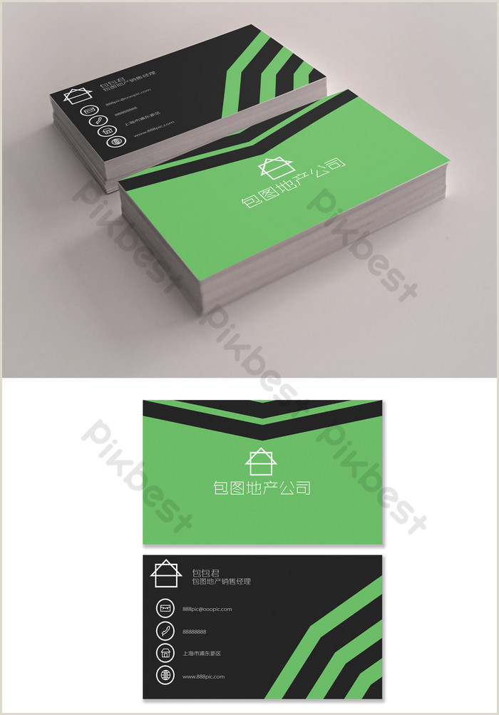 We Buy Houses Business Card Templates Green Business Real Estate Second Hand Housing Sales Card