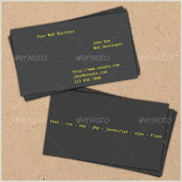 Web Design Business Cards Templates 25 Web Developer Business Card Psd Templates